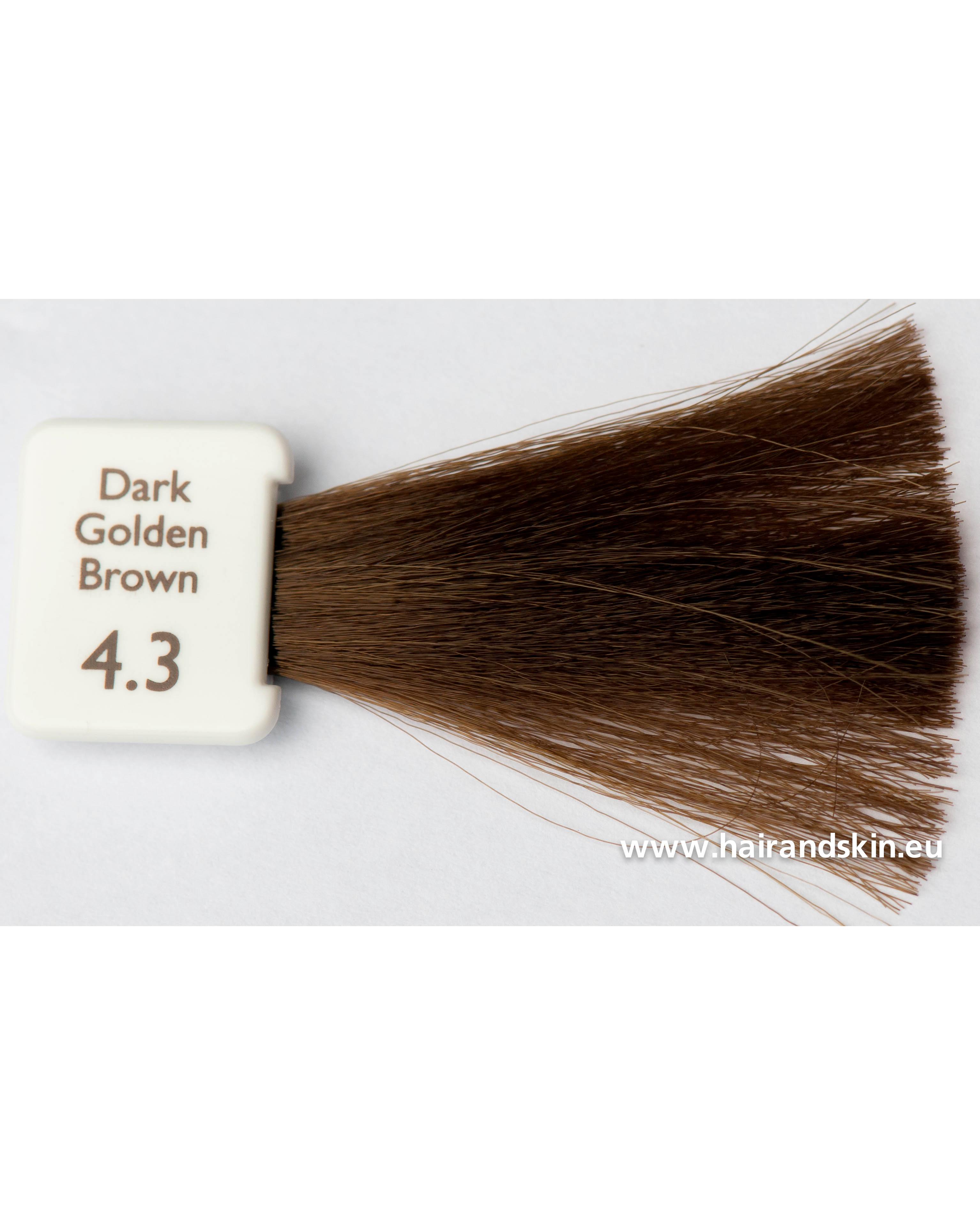 coloration natulique marron foncé doré 4.3 crème naturelle