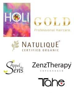 Logos marques Hairandskin - Hairborist - Natulique - Appel des sens - ZenzTherapy - Gold