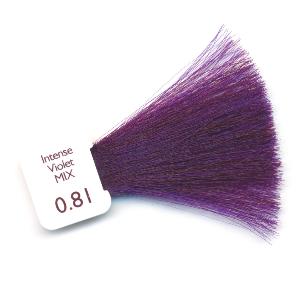 Image couleur cheveux violine