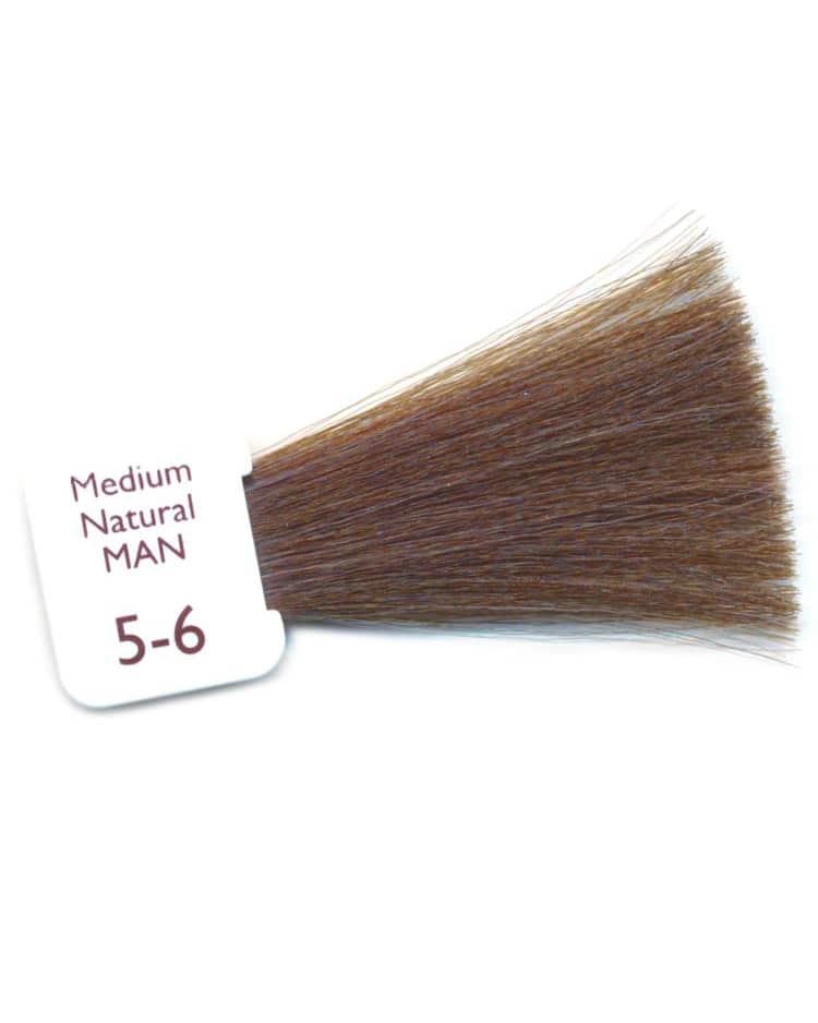 coloration crème natulique homme couleur moyenne 5-6 brun châtain
