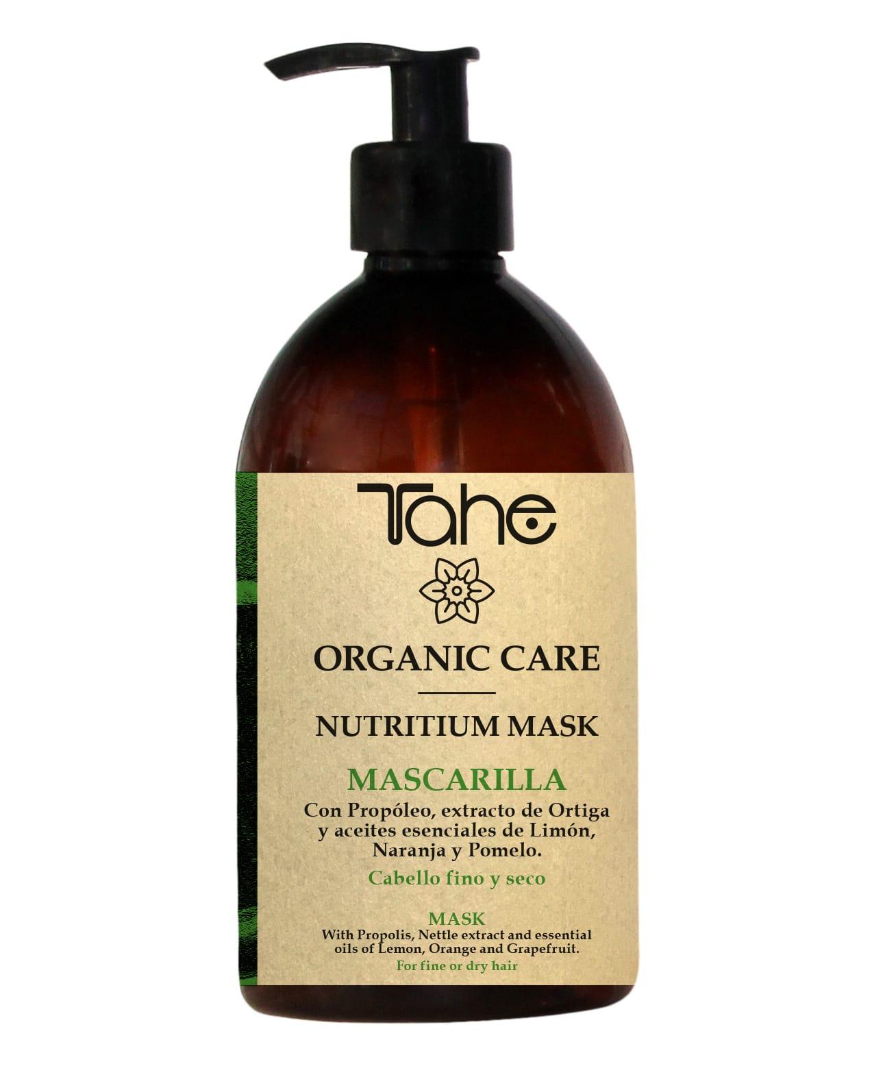 Tahe Organic Care Masque Nutritium Cheveux fins et secs 500ml