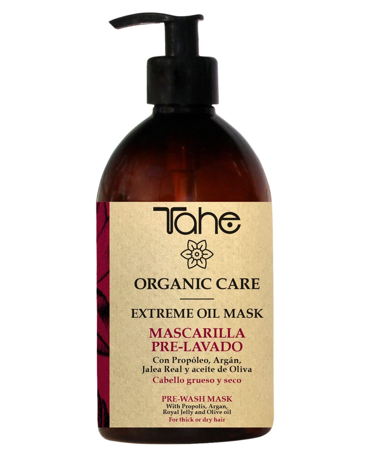 Tahe Organic Care Masque de prélavage extrème oil Cheveux épais et secs 500ml