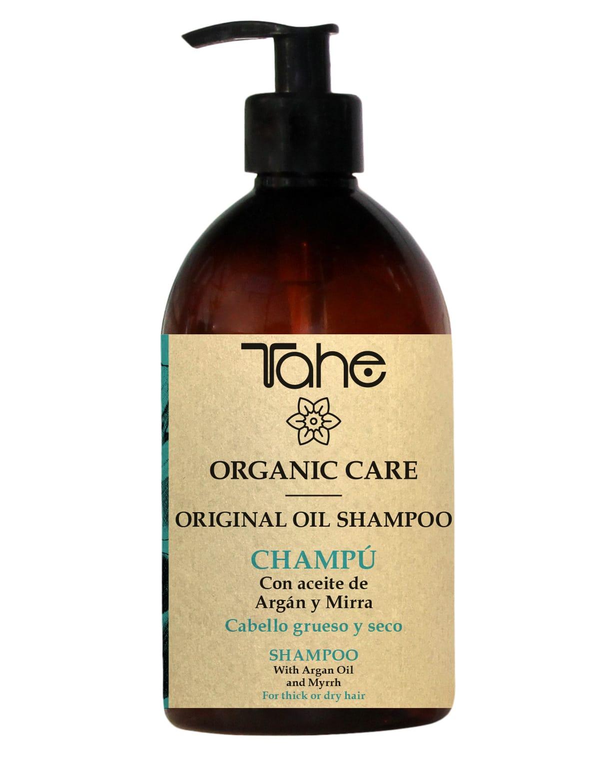 Tahe Organic Care Shampooing Original Oil cheveux épais et secs 500ml