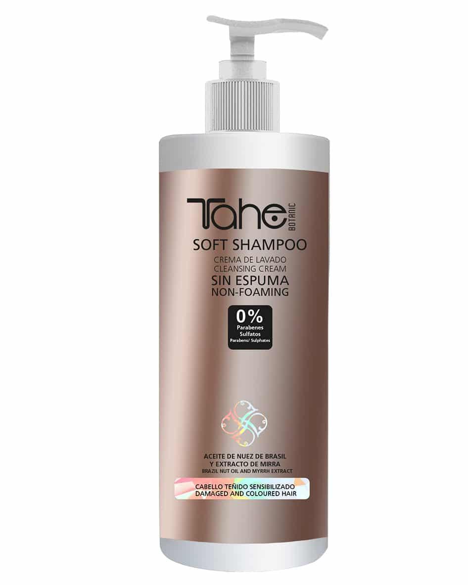 Tahé crème de lavage shampooing doux sans mousse cheveux colorés sensibles