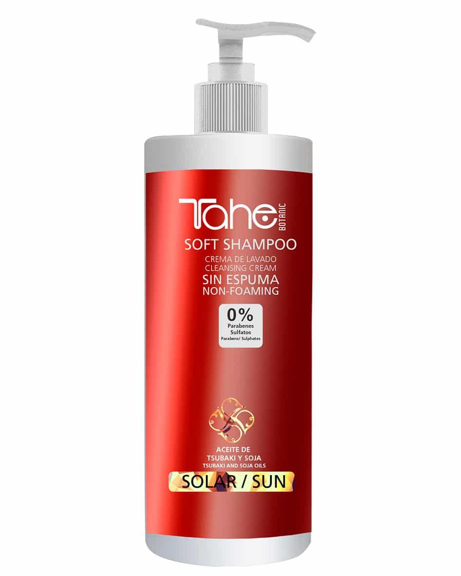 Tahé crème de lavage shampooing doux sans mousse protection solaire